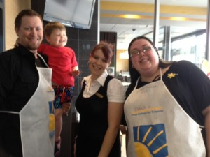 Marty, Griffin, the McDonalds lady and I