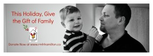 Griffin and my Hubby Marty in the RMH ad
